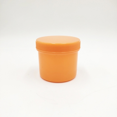 250g Orange Pet Plastic Cream Jar