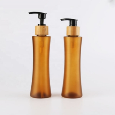 200-300ml  Amber Unique Bottle With Lotion Pump