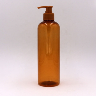 500ml PET Amber Shampoo Bottle With Lotion Pump
