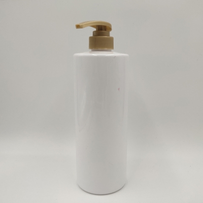 1000ml White Plastic Shampoo Bottle with Emulsion Pump