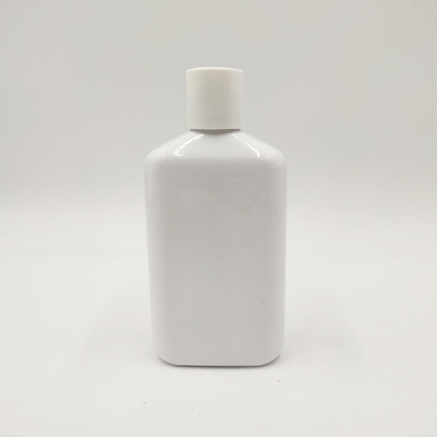 250ml White Square Plastic Screw Cap Bottle