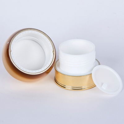 20g PP Plastic Facial Skin Cosmetic Cream Jars