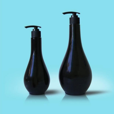 200ml 400ml Black Lotion Pump Shampoo Bottles