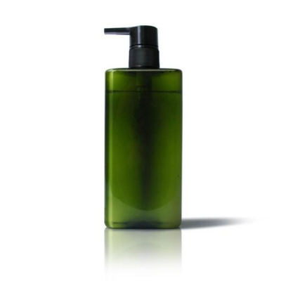 300ml Square Green Shampoo Plastic Bottle with Lotion Pump