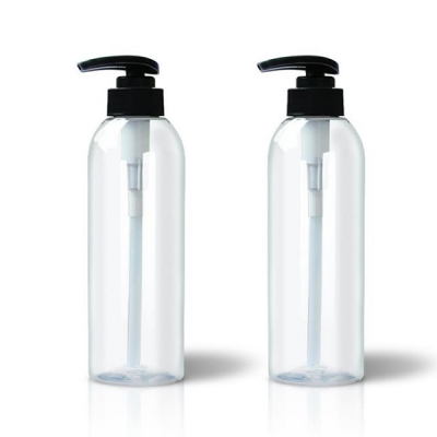 400ml Clear Plastic Shampoo Bottles with Lotion Pump