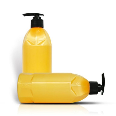 500ml Cosmetic Shampoo Packing Yellow Plastic Pet Bottle