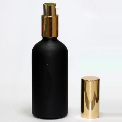 100ml Frosted Black Cylinder Glass Spray Bottle