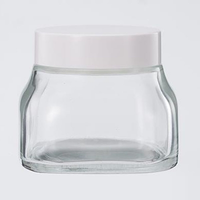 50g Cosmetic Packaging Transparent Glass Cream Jar