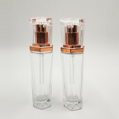 20ml Transparent Square Glass Spray Bottle