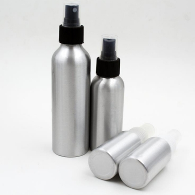 250ml Aluminum Comestic Bottle With Spray Pump