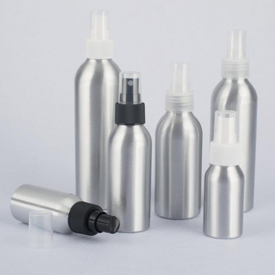 300ml Classic Metal Packaging Matte Aluminum Bottle With Pump